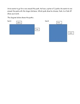 Area and Perimeter Word Problems worksheet
