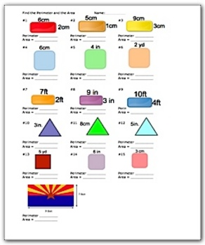 Area And Perimeter Worksheets Teaching Resources Teachers Pay Teachers