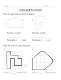 Area and Perimeter Worksheet Packet