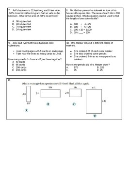 Area and Perimeter Worksheet or Quiz