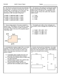 Area and Perimeter Worksheet or Quiz
