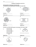 Area and Perimeter of Composite Figures Worksheet with quizzes and keys