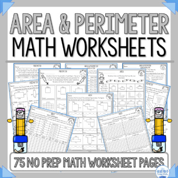 Fun Area And Perimeter Worksheets   Teachers Pay Teachers