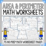 Area and Perimeter Worksheets No Prep