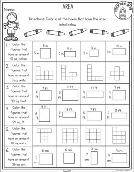Area and Perimeter Worksheets No Prep