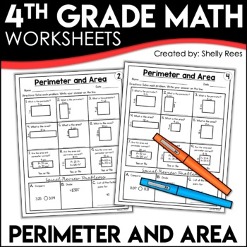 Area And Perimeter Worksheets By Shelly Rees Teachers Pay Teachers