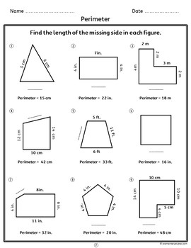 Area and Perimeter Worksheets and Activities | Distance Learning