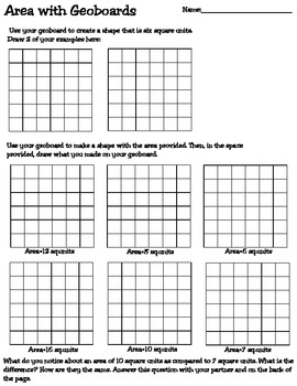Area and Perimeter Worksheets and Games