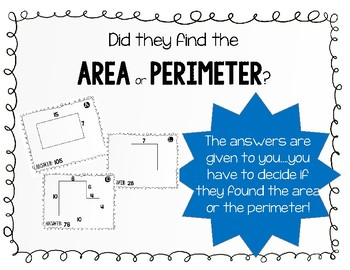 Area and Perimeter- You Decide!