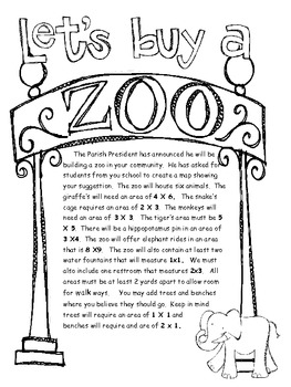 Area and Perimeter Zoo
