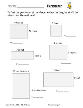 An Introductory Unit to Area and Perimeter