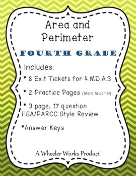 Area and Perimeter for Fourth Grade: Exit Tickets, Practice & More