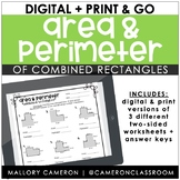 Digital + Print - Area and Perimeter of Combined Rectangles | Distance Learning