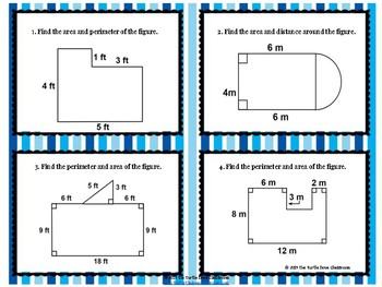 Area and Perimeter of Composite figures Powerpoint