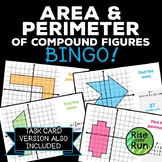 Area and Perimeter of Compound Figures Bingo Game
