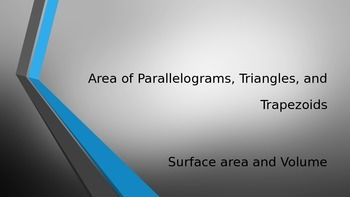 Area and Perimeter of Irregular Figures-Triangles, Paralle