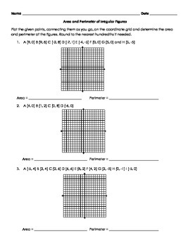 Area and Perimeter of Irregular Figures on the Coordinate Grid