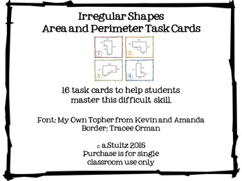 Area and Perimeter of Irregular Shapes
