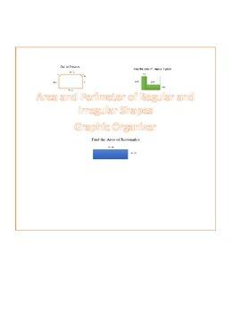 Area and Perimeter of Irregular Shapes Graphic Organizer