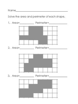 Area and Perimeter of Irregular Shapes {Practice Pages!}