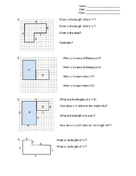 Area and Perimeter of L-Shaped Figures