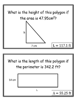 Area and Perimeter of Polygons: A Scavenger Hunt
