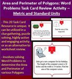 Area and Perimeter of Polygons Word Problems Task Card REVIEW GAME