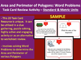 Area and Perimeter of Polygons Word Problems Task Card REVIEW GAME - SAMPLE