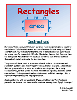 Area and Perimeter of Rectangles