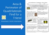 Area and Perimeter of Rectangles - Find for a Friend Activity or 10 Worksheets