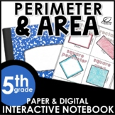 Area and Perimeter of Rectangles Interactive Notebook Set