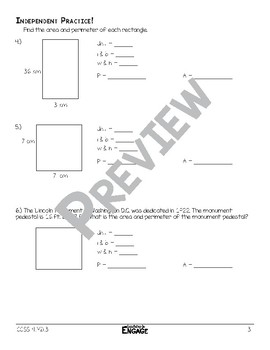 Area and Perimeter of Rectangles Math Video and Worksheet