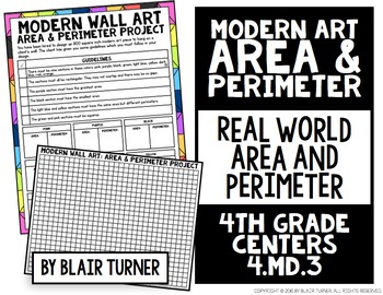 Area and Perimeter of Rectangles Project: 4th Grade Math Centers 4.MD.3
