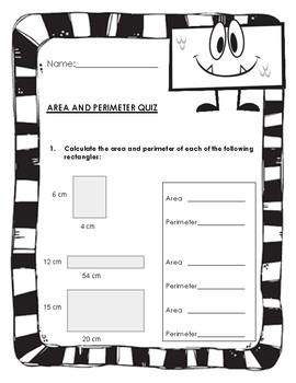 Area and Perimeter of Rectangles Quiz
