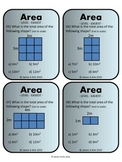 Area and Perimeter of Rectangles and Squares Activity Task Cards (Metric)