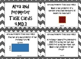 Area and Perimeter of Rectangles and Squares Task Cards 4.MD.3