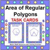 "AREA OF REGULAR POLYGONS TASK CARDS:  ""GOOGLE SLIDES"", SMARTBOARD, POWERPOINT"