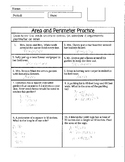 Area and Perimeter of Square, Rectangle, and Triangle Practice