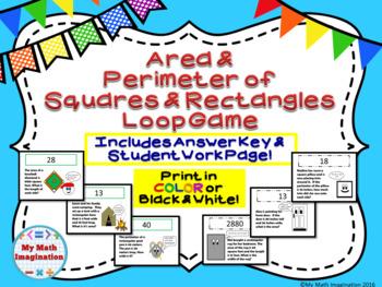 Area and Perimeter of Squares, Rectangles, inc. Missing Di
