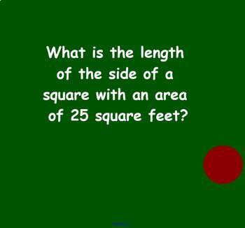 Area and Perimeter of Triangles and Quadrilaterals Word Problems Koosh Ball Game