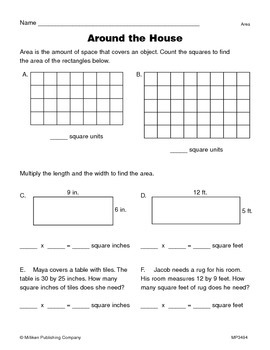Area and Perimeter of a Rectangle (CCSS 4.MD.A.3)