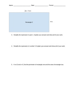 Area and Perimeter with Algebraic Expression Task