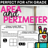 Area and Perimeter Activity with Cheese Crackers