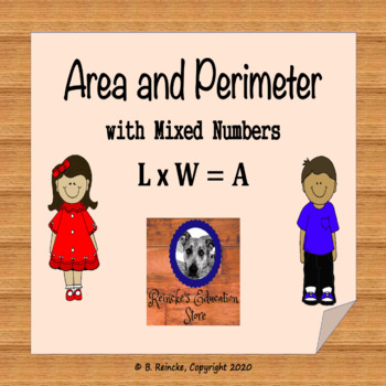 Area and Perimeter with Mixed Numbers Worksheet by Reincke's ...