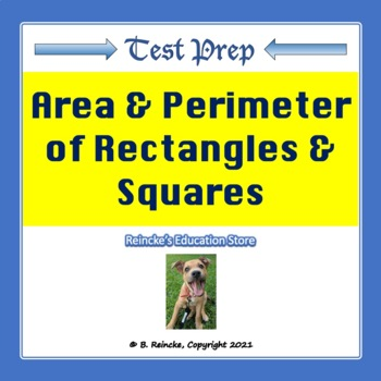 Area and Perimeter with Rectangles and Squares Test Prep