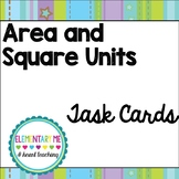 Area and Square Units Task Cards/ No Prep / Center / Group