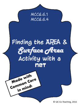 Area and Surface Area of a Net Activity