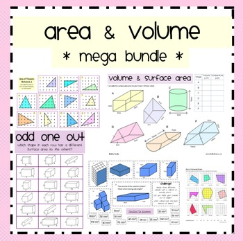 Area, Surface Area and Volume