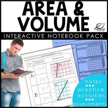 Area and Volume Interactive Notebook Set