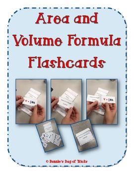 Area and Volume Formula Flashcards